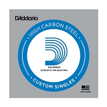 D'Addario Soldered Plain Steel Single Electric Guitar String .015p