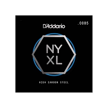 D'Addario NYXL High Carbon Plain Steel Single Electric Guitar String .0085p