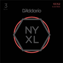 D'Addario NYXL Nickel Wound Guitar String Sets 3-Pack 10-52 LT/HB NYXL1052-3P