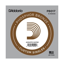 D'Addario Phosphor Bronze Single Acoustic Guitar String .017w