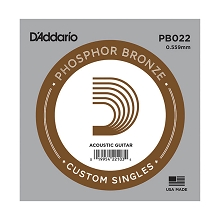 D'Addario Phosphor Bronze Single Acoustic Guitar String .022w