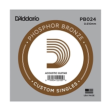 D'Addario Phosphor Bronze Single Acoustic Guitar String .024w