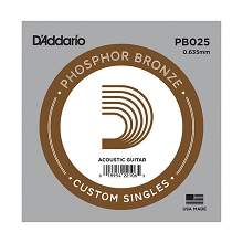 D'Addario Phosphor Bronze Single Acoustic Guitar String .025w