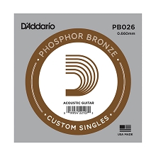 D'Addario Phosphor Bronze Single Acoustic Guitar String .026w