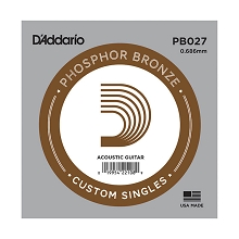 D'Addario Phosphor Bronze Single Acoustic Guitar String .027w