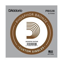D'Addario Phosphor Bronze Single Acoustic Guitar String .028w