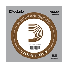 D'Addario Phosphor Bronze Single Acoustic Guitar String .029w