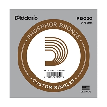 D'Addario Phosphor Bronze Single Acoustic Guitar String .030w
