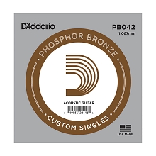D'Addario Phosphor Bronze Single Acoustic Guitar String .042w