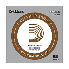 D'Addario Phosphor Bronze Single Acoustic Guitar String .064w