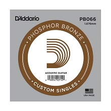 D'Addario Phosphor Bronze Single Acoustic Guitar String .066w