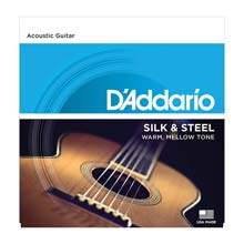D'Addario Silk and Steel Silver Plated Copper Sets