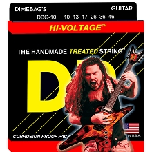 DR Dimebag Darrell StringLife Treated Electric Guitar String Set - 10-46 Medium DBG-10
