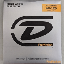 Dunlop Super Bright Nickel Plated Steel Electric Bass Strings Short Scale Set - 5-String 40-120 DBSBN40120S