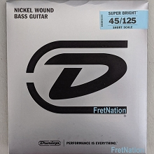 Dunlop Super Bright Nickel Plated Steel Electric Bass Strings Short Scale Set - 5-String 45-125 DBSBN45125S