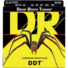 DR DDT Drop Down Tuning Stainless Steel Electric Bass Strings Long Scale Set - 5-String 40-120 DDT5-40