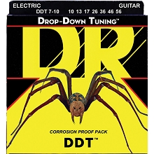 DR DDT Drop Down Tuning Electric Guitar String Set - 10-56 7-String Medium DDT7-10
