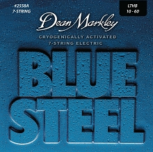 Dean Markley Blue Steel Electric Guitar String Set 10-60 7-String LTHB 2558A