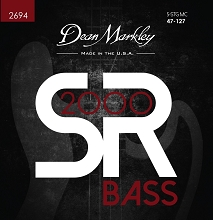Dean Markley SR2000 Bass String Set Long Scale - 5-String Tapered 47-127 Custom Medium 2694