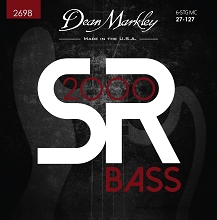 Dean Markley SR2000 Bass String Set Long Scale - 6-String Tapered 27-127 Custom Medium 2698