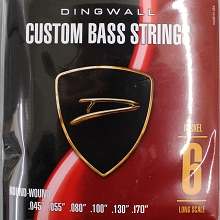 Dingwall Nickel Plated Steel Long Scale Multi-Scale Length - 6-String Low F# Set 45-170