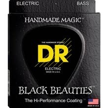 DR Black Beauties Black Coated Electric Bass Strings Short Scale Set - 4-String 45-105 SBKB-45