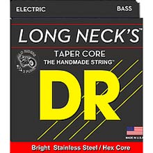 DR Long Necks Stainless Steel Electric Bass Strings Long Scale Set - 6-String Tapered 30-125T Medium TMH6-45