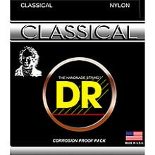 DR Classical Nylon and Silver Plated Copper Guitar String Set - 28-44 Hard Tension NSA