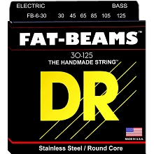 DR Fat-Beam Stainless Steel Electric Bass Strings Long Scale Set - 6-String 30-125 FB6-30