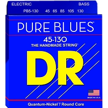 DR Pure Blues Quantum-Nickel Electric Bass Strings Long Scale Set - 5-String 45-130 Medium PB5-130