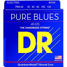 DR Pure Blues Quantum-Nickel Electric Bass Strings Long Scale Set - 5-String 45-125 Medium PB5-45
