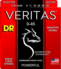 DR Veritas Quantum Nickel Electric Guitar String Set - 09-46 Light-N-Heavy VTE-9/46