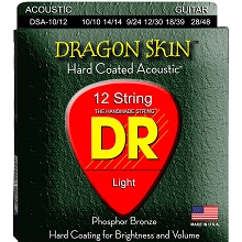 DR Dragon Skin Coated Phosphor Bronze Acoustic Guitar String Set - 10-48 12-String DSA-10/12