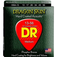 DR Dragon Skin Coated Phosphor Bronze Acoustic Guitar String Set - 13-56 Medium DSA-13