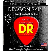 DR Dragon Skin K3 Clear Coated Electric Guitar String Set - 11-50 Heavy DSE-11