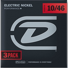 Dunlop Performance+ Nickel Wound Electric Guitar String Sets 10-46 3PDEN1046 3-Pack
