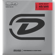 Dunlop Marcus Miller Super Bright Stainless Steel Electric Bass Strings Long Scale Set - 4-String 45-105 DBMMS45105