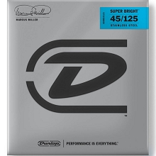 Dunlop Marcus Miller Super Bright Stainless Steel Electric Bass Strings Long Scale Set - 5-String 45-125 DBMMS45125