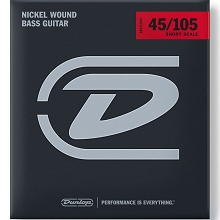 Dunlop Nickel Wound Electric Bass Strings Short Scale Set - 4-String 45-105 DBN45105S