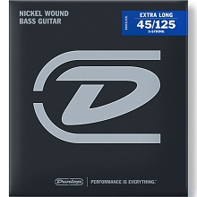 Dunlop Nickel Wound Electric Bass Strings Super Long Scale Set - 5-String 45-125 DBN45125XL