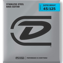 Dunlop Super Bright Stainless Steel Electric Bass Strings Long Scale Set - 5-String 45-125 DBSBS45125