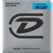 Dunlop Super Bright Stainless Steel Electric Bass Strings Long Scale Set - 5-String Tapered B 45-130T DBSBS45130T