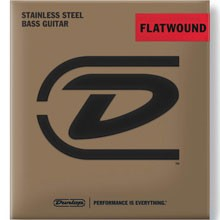 Dunlop Flatwound Electric Bass Strings Medium Scale Set - 4-String 40-100 DBFS40100M