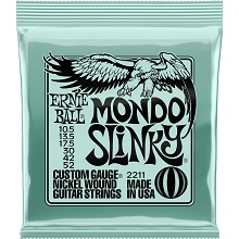 Ernie Ball Slinky Nickel Wound Electric Guitar String Set - 10.5-52 Mondo Slinky 2211