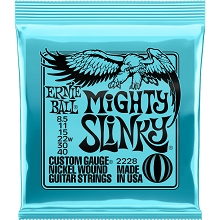 Ernie Ball Slinky Nickel Wound Electric Guitar String Set - 08.5-40 Mighty Slinky 2228