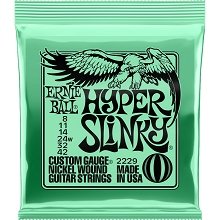 Ernie Ball Slinky Nickel Wound Electric Guitar String Set - 08-42 Hyper Slinky 2229