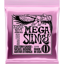 Ernie Ball Slinky Nickel Wound Electric Guitar String Set - 10.5-48 Mega Slinky 2213