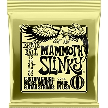 Ernie Ball Slinky Nickel Wound Electric Guitar String Set - 12-62 Mammoth Slinky 2214