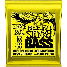 Ernie Ball Slinky Nickel Wound Bass Strings Long Scale - 4-String 65-130 BEAD Beefy Slinky 2840