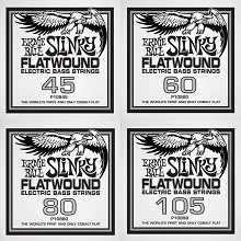 Ernie Ball Slinky Cobalt Flatwound Bass Strings Long Scale - 4-String 45-105 Balanced Tension Custom Set